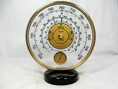 Seltene Art Déco Design JAEGER Wetterstation Barometer & Thermometer FRANCE
