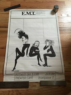 Vintage Switzerland 1983 EMT Educational Mime Theater of New York POSTER