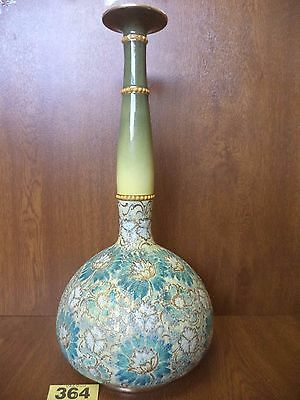 XL 43 cm Royal Doulton Slaters Patent Vase with Incised Floral Decoration