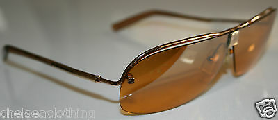 Original LOEWE Sunglasses Frames Aviator Gold Metal needs repairing/parts broken