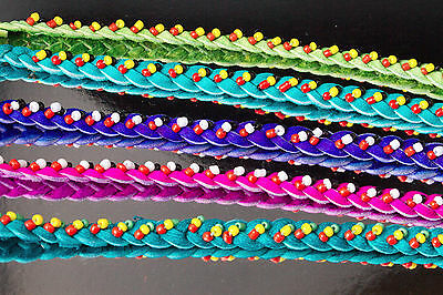 Lot 150 Colourful Leather Wristbands with Beads (Kenya)