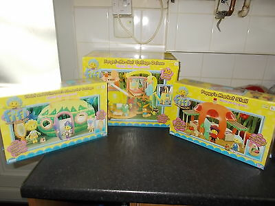 Fifi And The Flower Tots Bundle Forget Me Not Cottage + Two Others Boxed