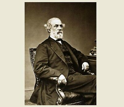 1869 General Robert E Lee PHOTO Rebel Confederate States Army CSA Civil War