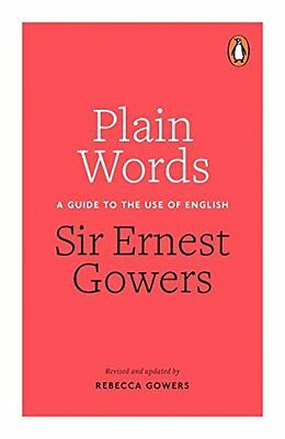 Plain Words by Rebecca Gowers Paperback Book New
