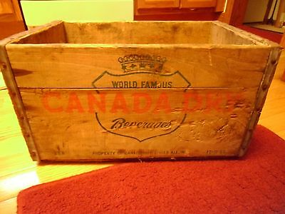 Vintage Canada Dry Ginger Ale Soda Wood Crate 1955