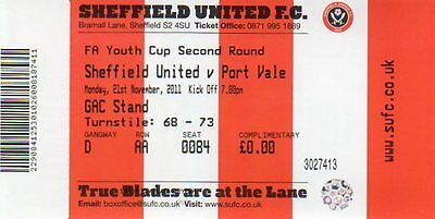 Sheffield United v Port Vale 21.11.11 FA Youth Cup 2nd Round