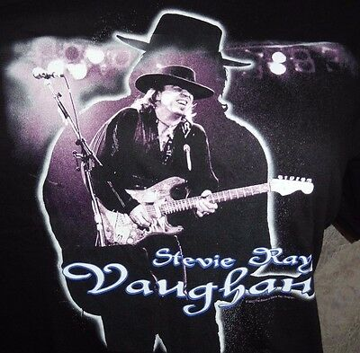 The Estate of STEVIE RAY VAUGHAN Black T Shirt XL 2001 Official Tennessee River