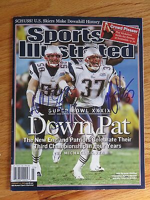 MIKE VRABEL and RODNEY HARRISON signed Sports Illustrated NEW ENGLAND PATRIOTS
