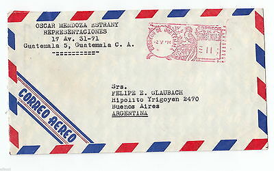 Guatemala cover to Argentina 1974 no  stamp c327