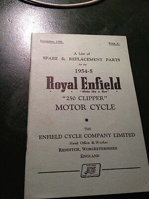 Royal Enfield Clipper Spare Parts Book