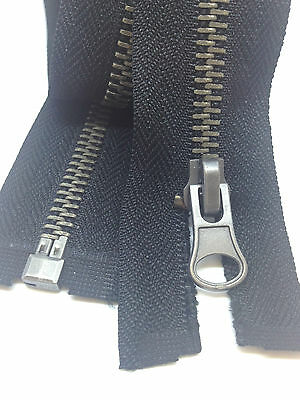 Black Brass Metal No 5  Zips Zippers - Open Ended for Coats and Jackets