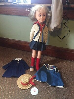 VINTAGE 1962 Mattel Charmin Chatty Doll - Chatty Cathy + Outfits + Record