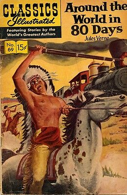 Around the World in 80 Days - Verne - Classics Illustrated 69 - 1960's printing