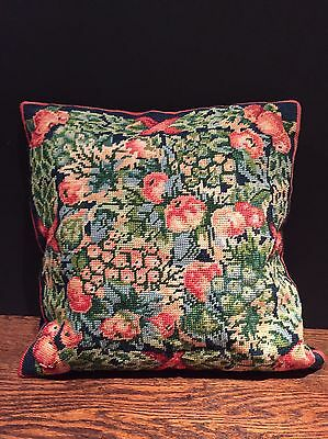 Vintage Needlepoint Ehrmen Tapestry Cushion Cover By Kaffe Fassett Completed