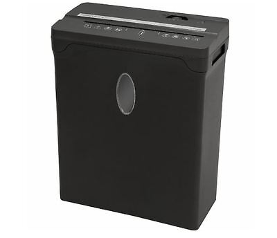 8-Sheet Cross-Cut Paper Credit Card Shredder Office Duty Shredding Machine Black