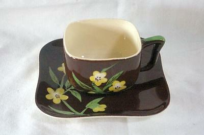 Weil Ware Circa 1942 Blackeyed Susan Cup And Saucer Set