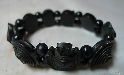 Victorian Jet & Bog Oak Scottish Bracelet A593616
