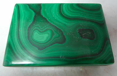 Antique Malachite Stone Box 261g 8.4cm x 5.8cm x 3.2cm A592616