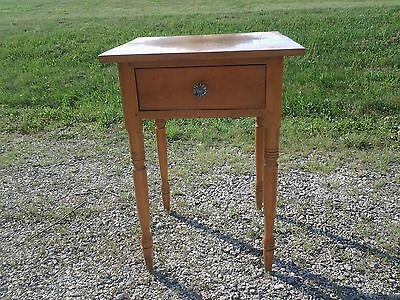 Antique TIGER MAPLE ONE DRAWER STAND Circa 1850