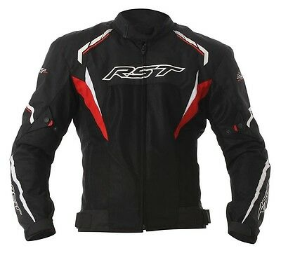 RST T122 Vented Tour Textile Touring Riding Summer Jacket Red Black