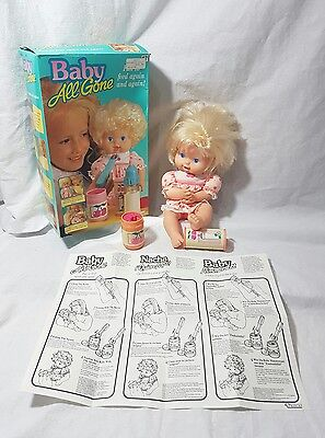 VINTAGE KENNER BABY ALL GONE DOLL BOXED 1990s VERY RARE