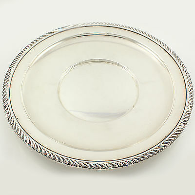 """VINTAGE Gadroon Sterling Silver CHARGER Plate 9 3/4"""" 209.2g Plainville Stock Co"""