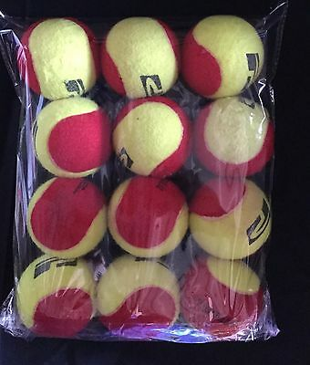 USED 12 Polytec Red Low Compression Tennis Balls (great for kids, games, dogs)