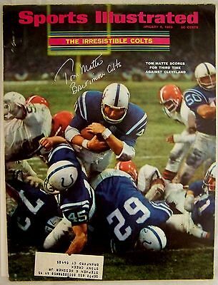 Tome Matte signed autographed 1969 Sports Illustrated SI Baltimore Colts
