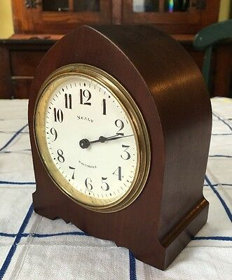 Mealy Baltimore Jewelers H&H Duverdrey Bloquel French Advertising Mantle Clock