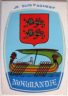 Normandie  Blason Adhesif / Sticker Postcard