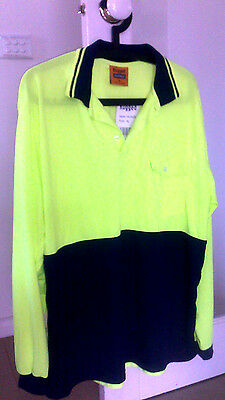 Workwear High Visibility work sports safety Long Sleeve Polo oz seller brand new