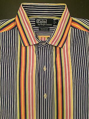 Vintage Men's Polo Ralph Lauren Colorful Striped Button Up Shirt Supreme Size L