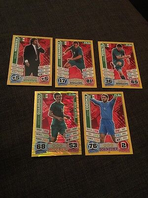 Mexico Match Attax 2014 World Cup Inc Manager X 5