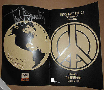 Tim Armstrong Timebomb Track Fast 10 World Peace Signed #d Fanzine Zine Rancid