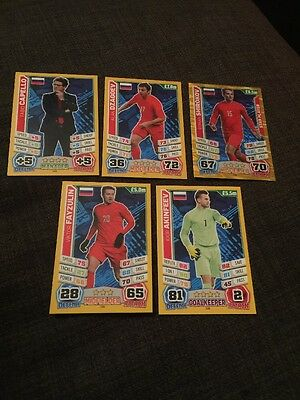 Russia Match Attax 2014 World Cup Inc Manager X 5