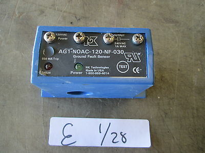 Used NK Technologies Ground Fault Sensor AG1-NOAC-120-NF-030 MAKE OFFER!!!!
