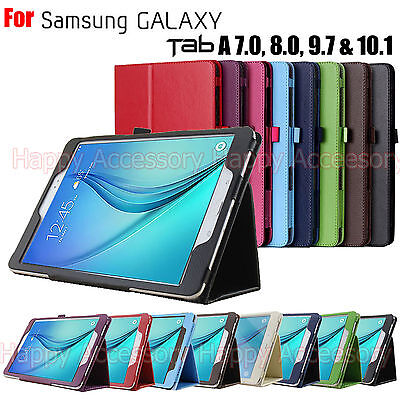 Flip Leather Case Folder Cover for Samsung Galaxy Tab A 9.7 & 8.0,7.0,10.1