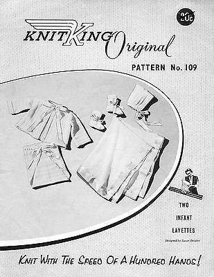 KNITKING 109 Babies Vintage Knitting Machine PATTERN TWO INFANT LAYETTES copy
