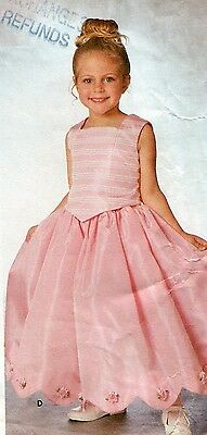 Simplicity 9457 Girls Sizes 3 4 5 6 7 8 Princess Line Top & Skirt FLOWER GIRL's