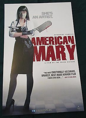 American Mary / Among Friends Movie Promo Poster 2013 Katharine Isabelle Horror