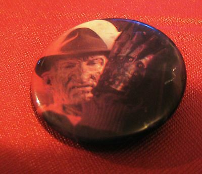 A Nightmare On Elm Street Freddy Krueger Pin Badge Horror Movie #10