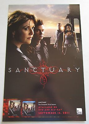 Sanctuary TV Show Poster Fan Expo 2011 Amanda Tapping Robin Dunne Ryan Robbins