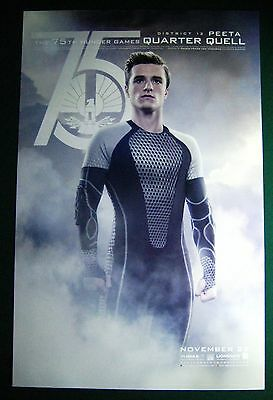 Catching Fire Movie Promo Poster 75TH Hunger Games Peeta Comic Con Fan Expo