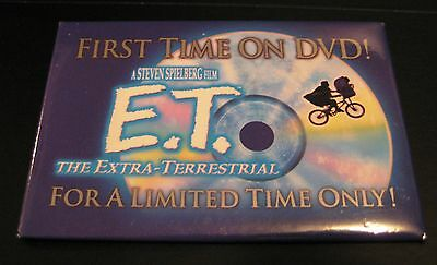 E.T. Movie The Extra Terrestrial Promo Pin Button Badge Steven Spielberg ET