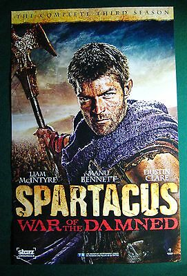 Spartacus War Of The Damned / Davinci's Demons TV Show Promo Poster Fan Expo