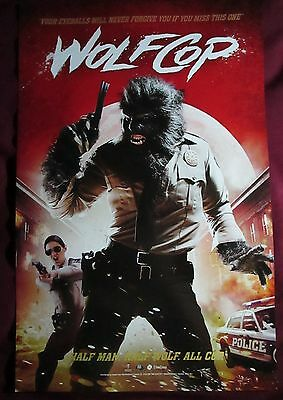 Wolfcop / The Drownsman Movie Promo Poster Comic Con 2015 Canadian Horror
