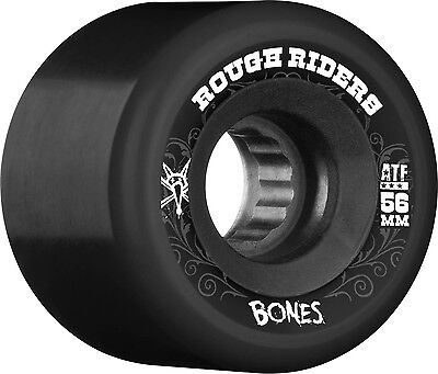 Bones - Rough Riders Black 56MM 80A Skateboard Wheels