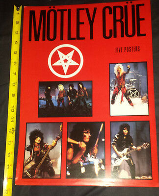 Motley Crue: 5 poster pack 1984 made in england