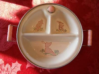 Vintage Excello Warming Divided Baby Dish Little Bo Peep