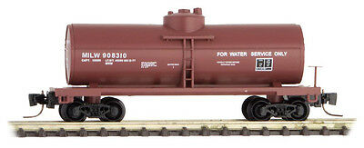 Milwaukee Road 39' Single Dome Tank Car Z-Scale MTL #530 00 431 Rd# 908310